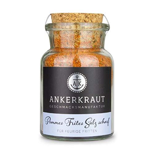 Ankerkraut Pommes Frites Salz Scharf Korkenglas