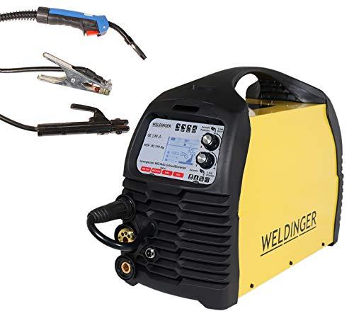 WELDINGER MIG/MAG-Schweißinverter MEW 185 SYN dig pro (Schutzgas Schweißgerät)