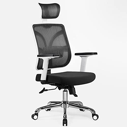 Maity Bürostuhl Computerstuhl ergonomisches Design Rückenlehnenstuhl, Drehstuhl(Schwarz/Weiß)