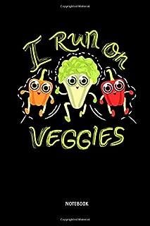 I Run On Veggies - Notebook: Half Marathon Journal / Notebook (Dot Grid). Funny Half Marathon Training Accessories & Novelty Marathon Runner & Marathoner Finisher Gift Idea.