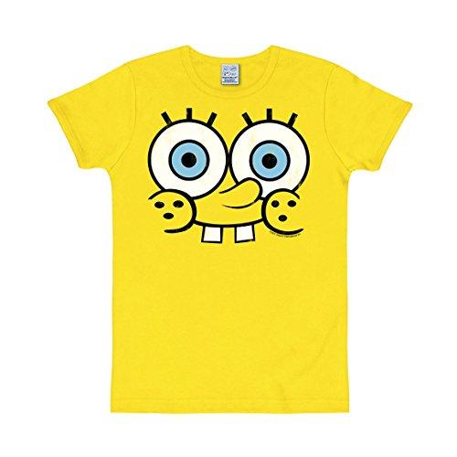 Logoshirt Unisex  T-Shirt Slim Fit Spongebob-Faces, Gr. X-Large (Herstellergröße: X-Large), Gelb