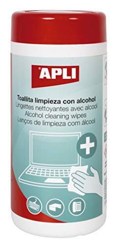 APLI 18566 - Toallitas de limpieza con alcohol 100 u. ✅