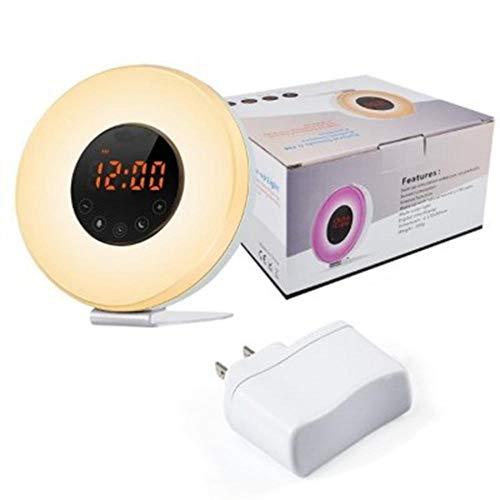 Alarmklocker8B LED digitale wekker zonsopgang wakker licht analoog nachtlicht Snooze/sunset FM-radio geheugenfunctie USA_USA