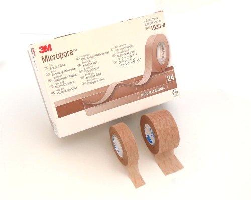 3M マイクロポアスキントーン 肌色 サージカルテープ 12.5mm幅(24巻入 1533-0S)
