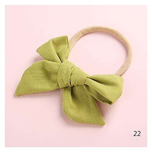 PC 1 Vintage algodón Scrunchie scrunchies Bandas elásticas Pelo Diadema Ponytail Titular vínculo Cuerda Accesorios para el Cabello Regalo Arco Nylon (Color : 22)