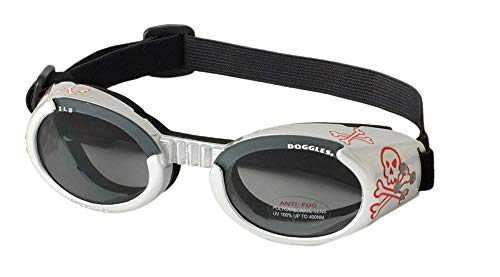 Doggles ILS Dog Goggles Sunglasses Skull/Smoke Medium