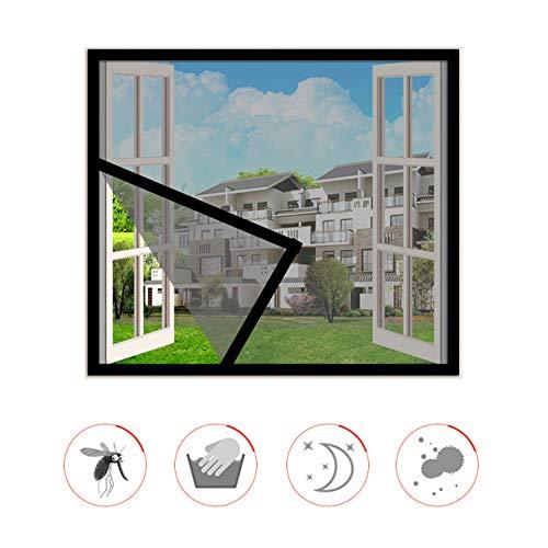 HTDG Vliegengaas voor ramen, zwart, dak, transparant, aluminium, met vliegengaas, zelfklevend, voor ramen, gemaakt van een vliegengaas voor ramen, zonder boren, fijn net
