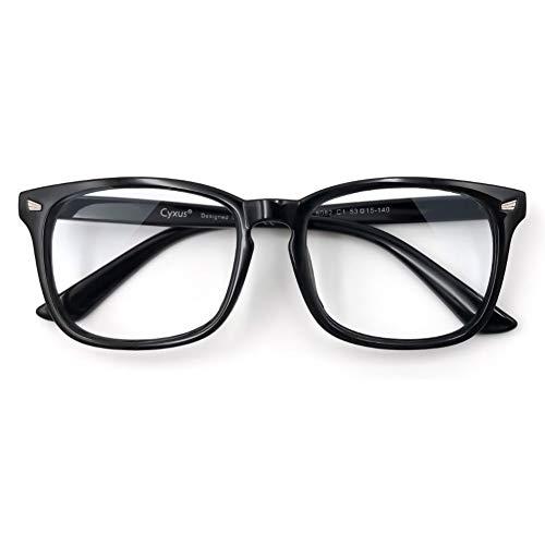Cyxus Blaulichtfilter Brille Herren【 TR90 Leichtgewichts】Groß Computerbrille zum Blockieren von UV-Kopfschmerz Gaming-Brille