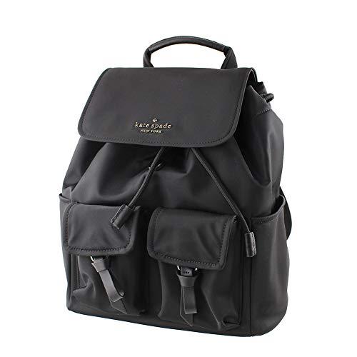 Kate Spade Flap Backpack Carley Nylon Black 12'x11'x6'