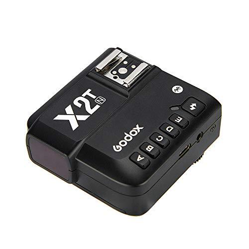 Godox X2T-N TTL Wireless Flash trigger 2.4G 1   8000s HSS TTL-Convert-manuale 5 Separare pulsanti del gruppo, Nuova Hotshoe di bloccaggio, Nuova Luce AF Assist funzione per Nikon, connessione BT
