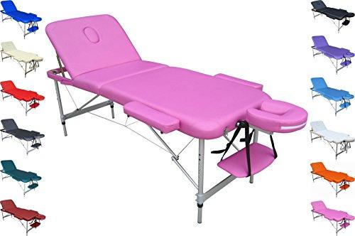 POLIRONESHOP MERCURIO Camilla profesional aluminio ligera portátil plegable para masajes tratamientos de...