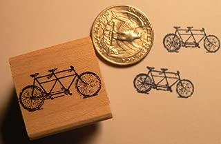 Dragonflylaser Miniature tandem bicycle rubber stamp WM P24