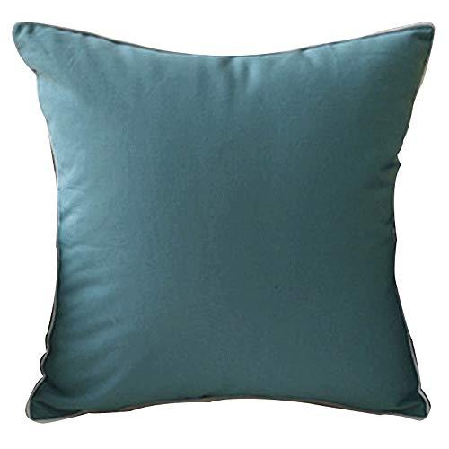 YONGYONG Coton Minimaliste Moderne Couleur Unie Coussin Couverture Unie Couleur Maison Chambre Oreiller Couleur Candy Coton (Color : Green)