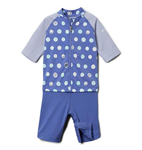 Columbia Baby Sandy Shores Sunguard Suit, African Violet Polka Pets, 12/18