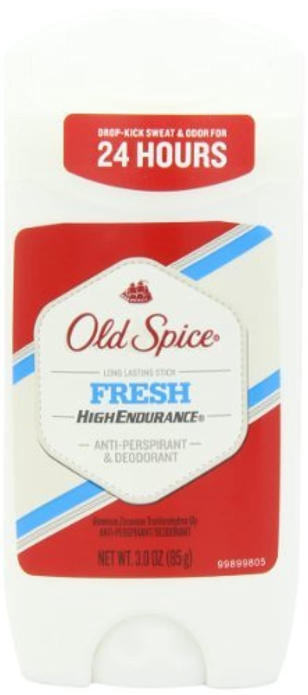 事実上セットアップフレキシブルOld Spice High Endurance Invisible Solid Fresh Scent Men's Anti-Perspirant & Deodorant 3 Oz (Pack of 6) by Old Spice [並行輸入品]