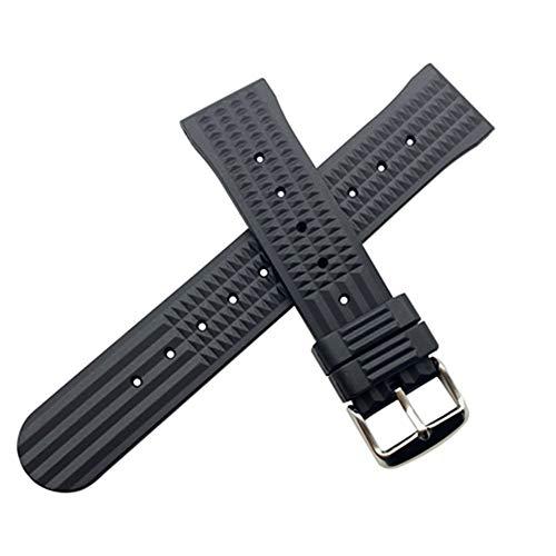 Banda de Repuesto 20 22mm Banda de reloj de gel de silicona DIY for la correa de reloj de sexo de Seiko Cinturones de silicona de goma perforada Pulsera impermeable Para Hombres / Mujeres Banda de Rel