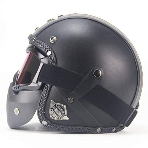 Motorradhelme Offenes Gesicht Modularer Motorradhelm Elektrischer Fahrradhelm Roller Motorradhelm Maske Mundfilter