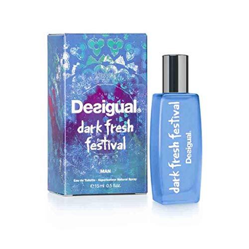 DESIGUAL Dark Fresh Festival Eau DE Toilette Man 15ML VAPORIZADOR Unisex Adulto, Negro, Único