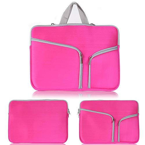 AUConer Baby-Pink 11.6inch Laptop/Vivobook/IdeaPad/Chromebook Sleeve Briefcase Carrying bag Skin Cover For Acer Asus HP Dell Toshiba Lenovo Huawei MSI LG (11.6inch, CarryBag-Pink)