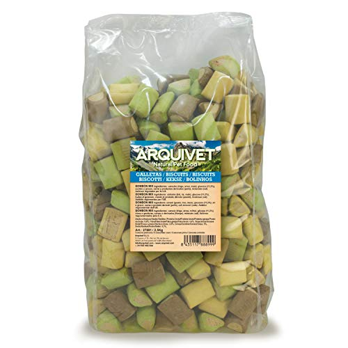ARQUIVET Galletas Bombón Mix 2,5 Kg para Perros - Snacks, chuches, golosinas,...