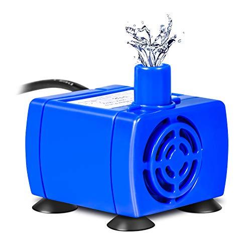 YHG Bomba de Agua Sumergible para Fuente de Mascotas, Reemplazo Potente de la Bomba de Fuente para Mascotas de 12V, Bomba de Agua para Mascotas con Cable de Alimentación de 1,8 m