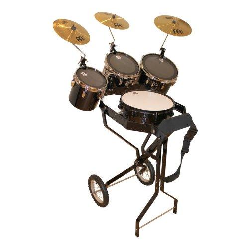 Schlagzeugwagen mit Snare, 3 Toms, Hi-Hat Rosette, 3 Becken