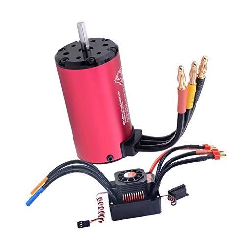 4076 2000KV / 2250KV Motore Brushless ESC 150A / 120A per 1/8 RC Auto Accessori Impermeabili - Rosso + Nero A