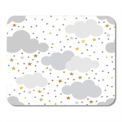 Mauspad Chevron Scandinavian Gold Monochrome Patterns Kinder Baby Perfekte Schlafenszeit Abstrakte Gaming Mouse Pad Gummi Träger Dekor Mauspad Büro 25X30 cm rutschfeste Mousepad