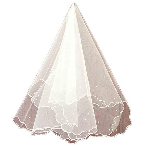 Mikiya bruidsjurk, parel, sluier, tule, sluier, sluier, bruidssieraden, accessoires