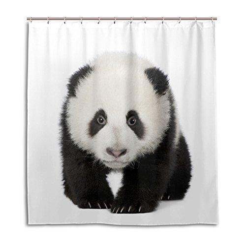 MyDaily Adorable Giant Panda Duschvorhang, 182,9 x 182,9 cm, schimmelresistent und wasserdichte Polyester-Dekoration Badezimmer Vorhang