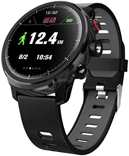 Rastreador de fitness para mujer, reloj inteligente, pulsera de ritmo cardíaco, pulsera inteligente para mujer, natación, impermeable, color verde y negro