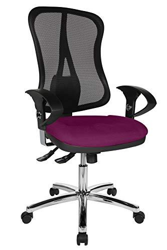 Topstar Head Point SY Deluxe, ergonomischer Bürostuhl, Schreibtischstuhl, inkl. Armlehnen, Stoff, lila/schwarz