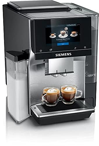 Siemens W pełni automatyczny ekspres do kawy, EQ.700 integralny TQ707D03, intuicyjny wyświetlacz Full Touch, możliwość zapisania do 30 indywidualnych kreacji kawy, czarny lakier fortepianowy