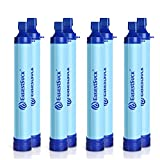 Easiestsuck Personal Water Filter Straw,Female Portable Emergency Preparedness Water Filtration Purifier for Travel Camping Survive Hunting Hiking Fishing Family Outing