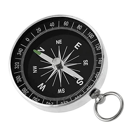 Tragbarer Taschenkompass Mini-orientierungslaufkompass Überlebenskompass Schlüsselbund Aluminiumlegierung Kompass Hohe Präzision Stabilität zum Wandern,Camping,Bootfahren,Rucksacktouren als Dekoration
