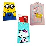 Llavero – Tarjeta – Bus – crédito – Club – Pack 3 Unidades. Incluye Miniom, Hello Kitty y Ventana.