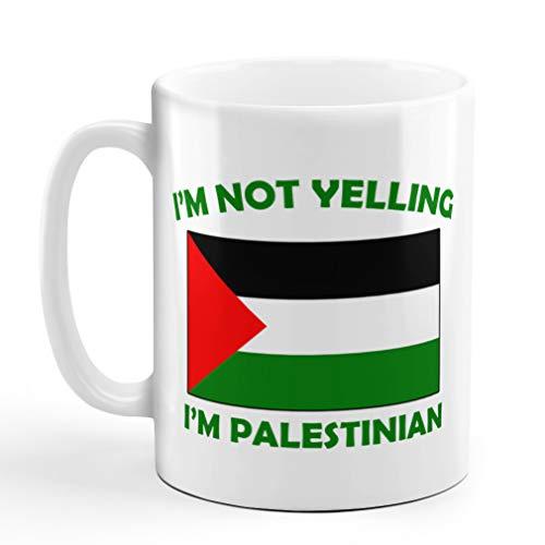 I'M Not Yelling I Am Palestinian Palestine Palestinians Coffee Tea Mug Cup Holiday Christmas Hanukkah Gift For Men & Women