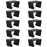 Boyigog Juego de 10 clips para muebles de jardín, 5,25 cm, de plástico negro