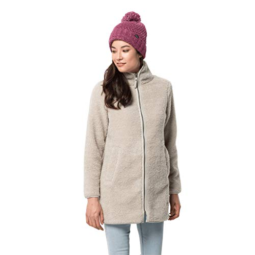 Jack Wolfskin Damen HIGH CLOUD COAT W Fleecemantel, dusty grey, L