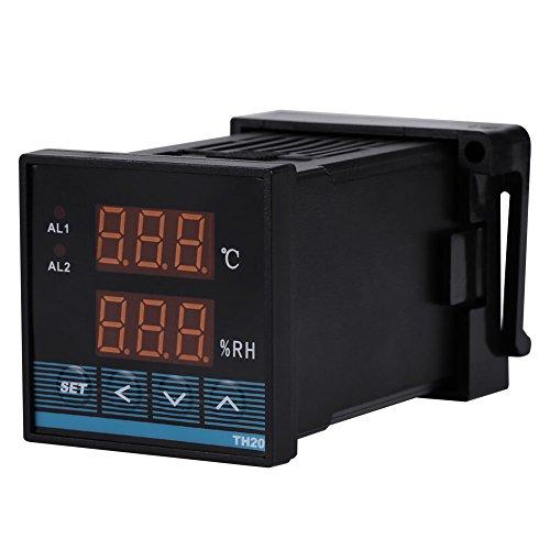 AC85 ~ 265V Temperatur- und Luftfeuchtigkeitsregler mit Relaisausgang Thermostat Digitaler Temperatur- und Feuchtigkeitsregler -19.9 ℃ ~ 80.0 ℃ 0.0 ~ 99.9% RH