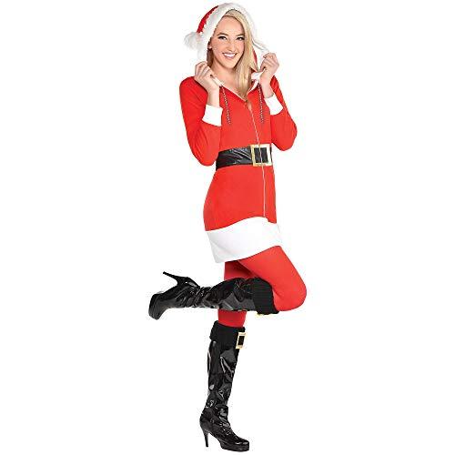 Amscan - Disfraz de Pap Noel con cremallera para mujer, talla L/XL