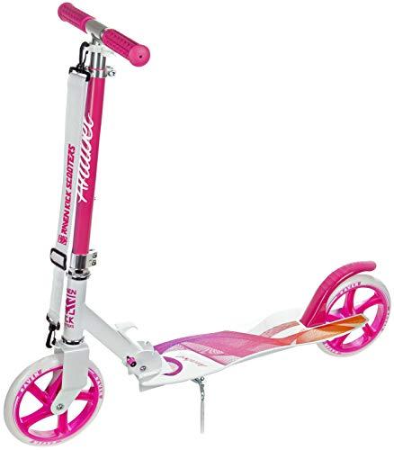 RAVEN Scooter Roller Kinderroller Cityroller Tretroller Kickroller Anabel 200mm mit Handbremse (Pink)