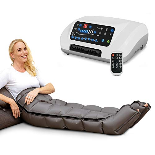Venen Engel ® 8 Premium aparato de masajes con pantalones, 8 cámaras de aire desactivables, tiempo y presión fáciles de configurar, 6 programas de masaje, masaje sin interrupcione