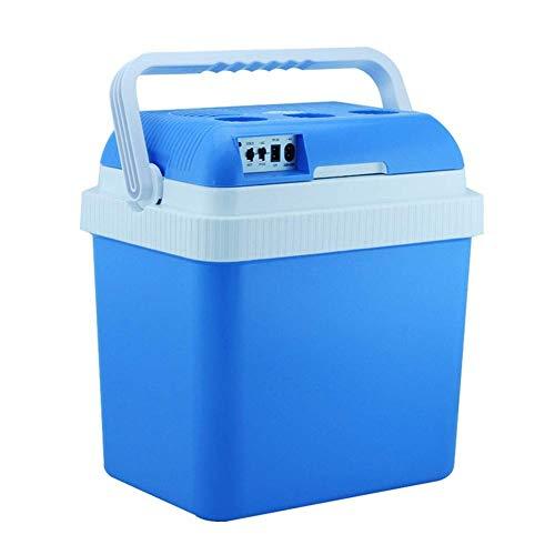 BD.Y Refrigerador Portátil Refrigerador Congelador 24L Mini Refrigerador de Coche 12V Refrigerador de Coche Refrigerador Caja de Doble Uso Caliente/Frío Portátil IceBox Pequeño Congelador, Camp