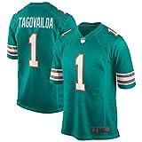 Camisetas de fútbol americano al aire libre, número 1, camiseta de juego alternativo de secado rápido, ropa deportiva para hombre, color verde