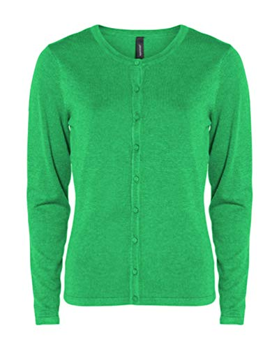 SOYACONCEPT - Damen Strickjacke, SC-Dollie 446 (32471), Größe:S, Farbe:Tropical Green (7710)