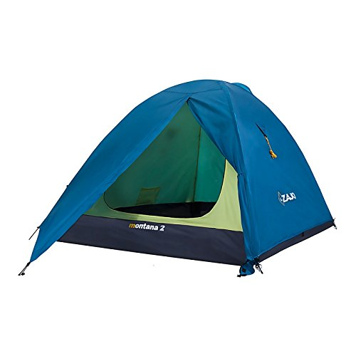 Zajo Zelt Montana 2 Personen Campingzelt Wassersäule 5000mm Nur 3kg ideales Kuppelzelt für Camping, Sport und Trekking