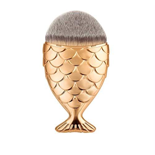 WBXZAL-Pinceau de maquillage balais brosses 3 chambre façonné esthétique cosmétique,golden x 3