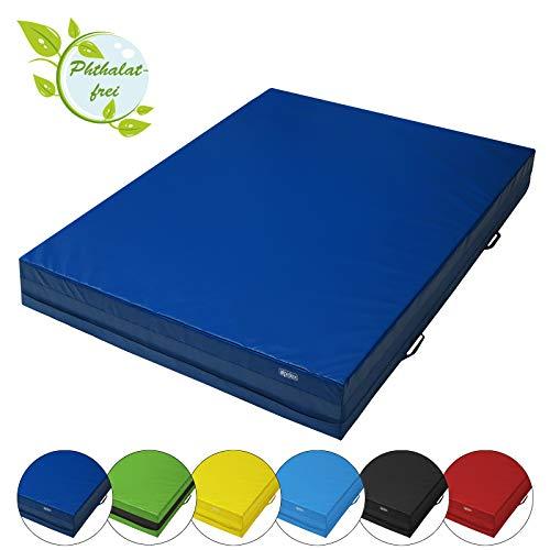 ALPIDEX Weichbodenmatte 200 x 150 x 25 cm mit Tragegriffen und Anti-Rutschboden, Farbe:dunkelblau