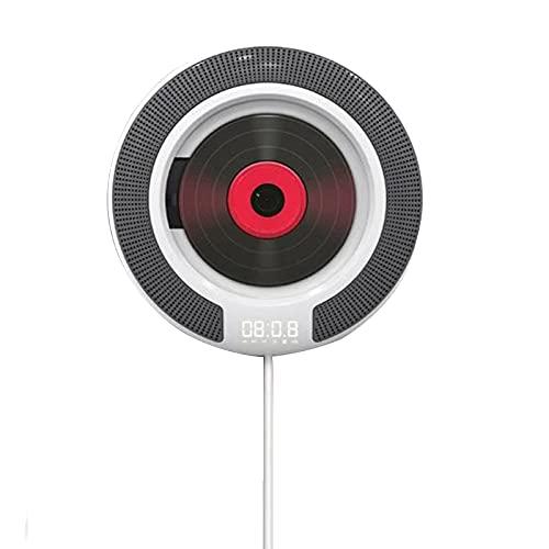 LANGTAOSHA Reproductor De CD Portátil, Reproductor De Música Bluetooth para Montar En La Pared Altavoces Incorporados HDMI con Control Remoto, Soporte para Radio FM USB / MP3 / WMA Reproducción